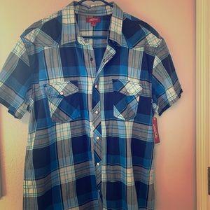 Western Style Plaid Shirt